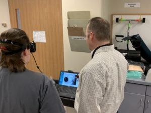 Visualeyes training in rehab department