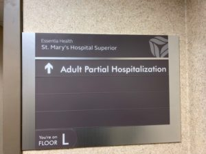 Sign for Partial Hospital Programming