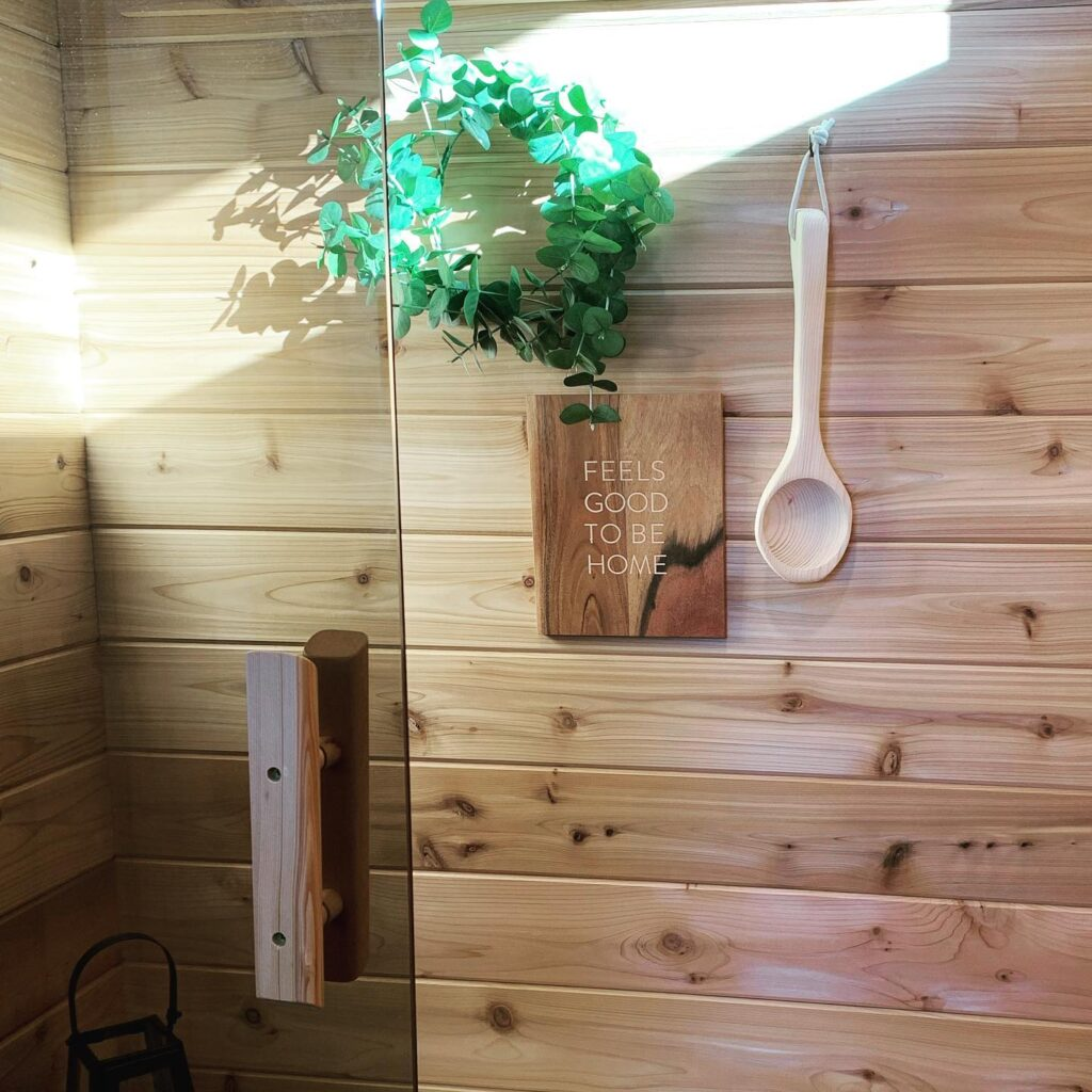 inside of sauna
